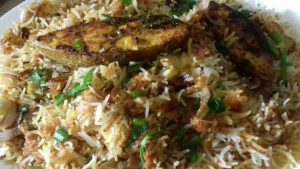 Fish biryani recipe