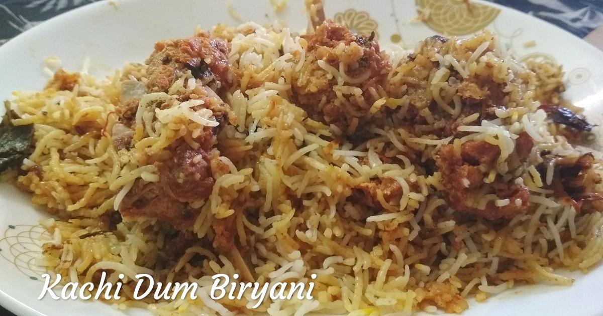 How to make Kachi Dum Biriyani