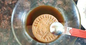 Biscuit Pudding Recipe with cream